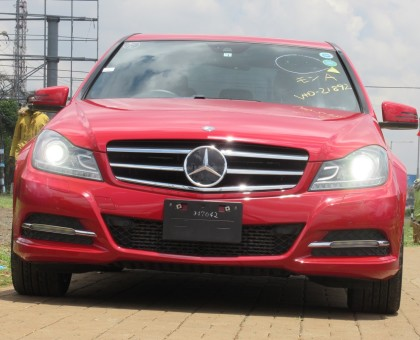 Mercedes Benz C180 Red Color 2014 Model