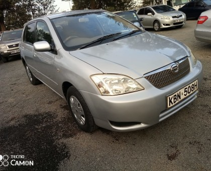 Toyota Runx for sale.